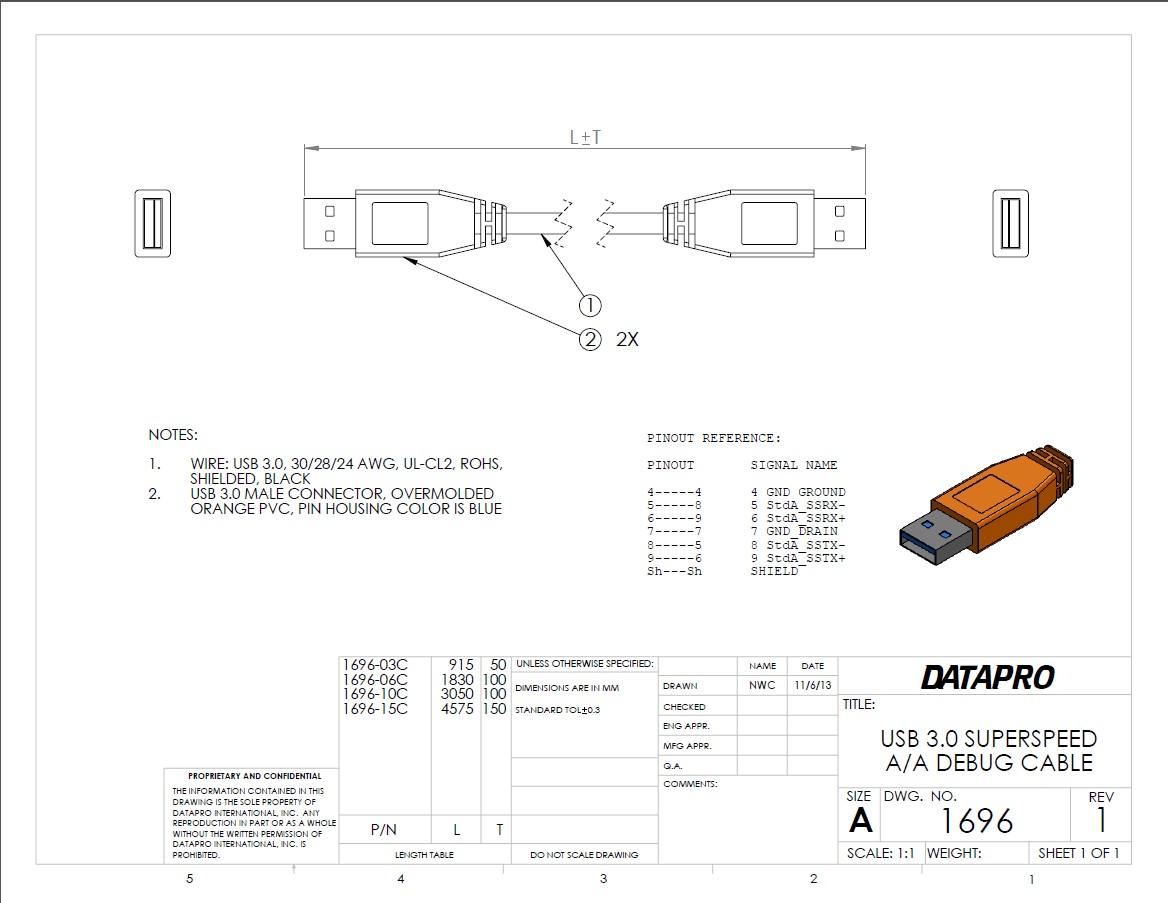 usb 3.0 windows 双机调试电缆接线图