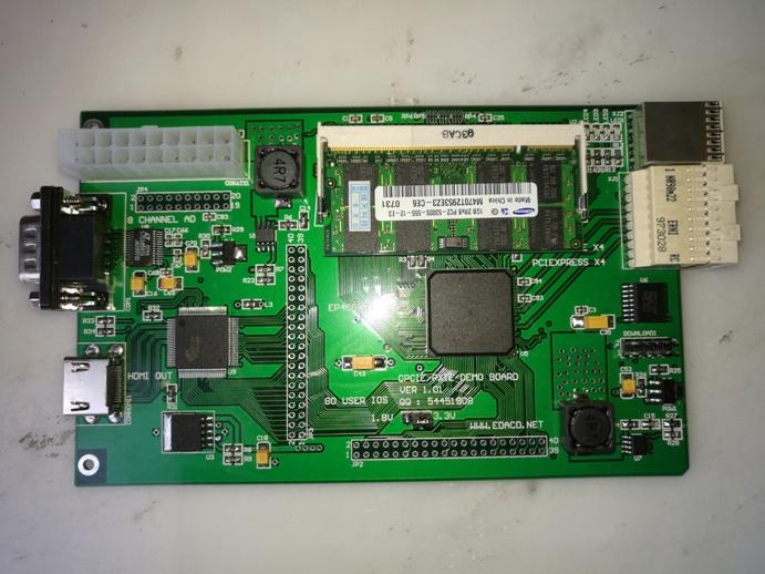 硬件开发 板卡设计 pxie/cpciex4总线fpga开发板         pxie/cpcie